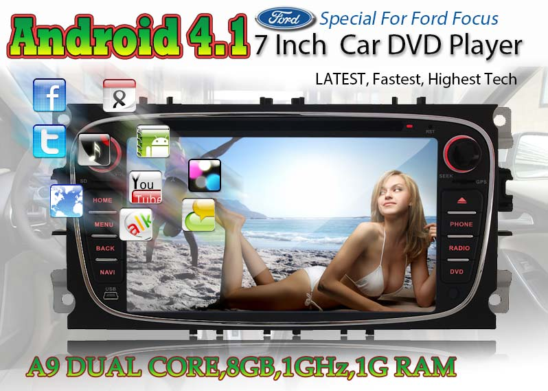 Details about Android 4.1 Dual-Core A9 CPU Car DVD GPS Nav Stereo