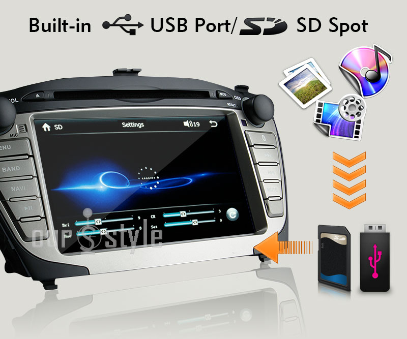 Hyundai Tucson IX35 Android 4.1 Car DVD GPS Radio Stereo Headunit In