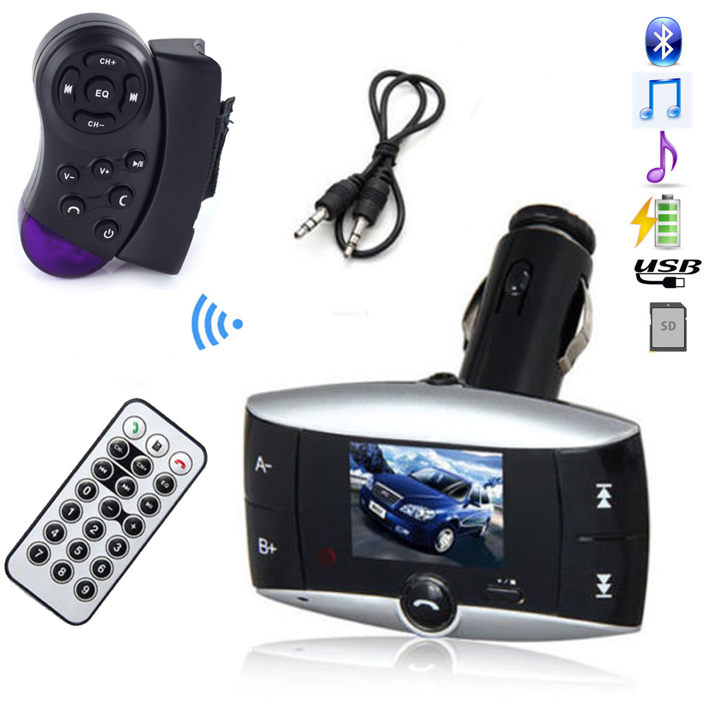 hands free bluetooth lcd car kit mp3 player fm transmitter. Black Bedroom Furniture Sets. Home Design Ideas