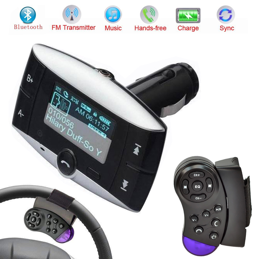 1 5 lcd car kit mp3 player bluetooth fm transmitter. Black Bedroom Furniture Sets. Home Design Ideas